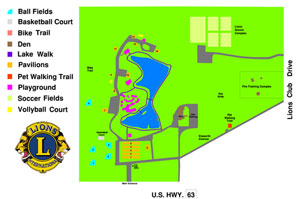 Rolla Lions Club Park Map